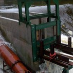 Upper fishway construction flooding